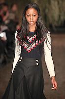 Nyasha Matonhodze  walks down runway for F2012 Altuzarra's collection in Mercedes Benz fashion week in New York on Feb 10, 2012 NYC's