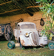 An old truck in the Provence-Alpes-Cote-D'Azur region, France