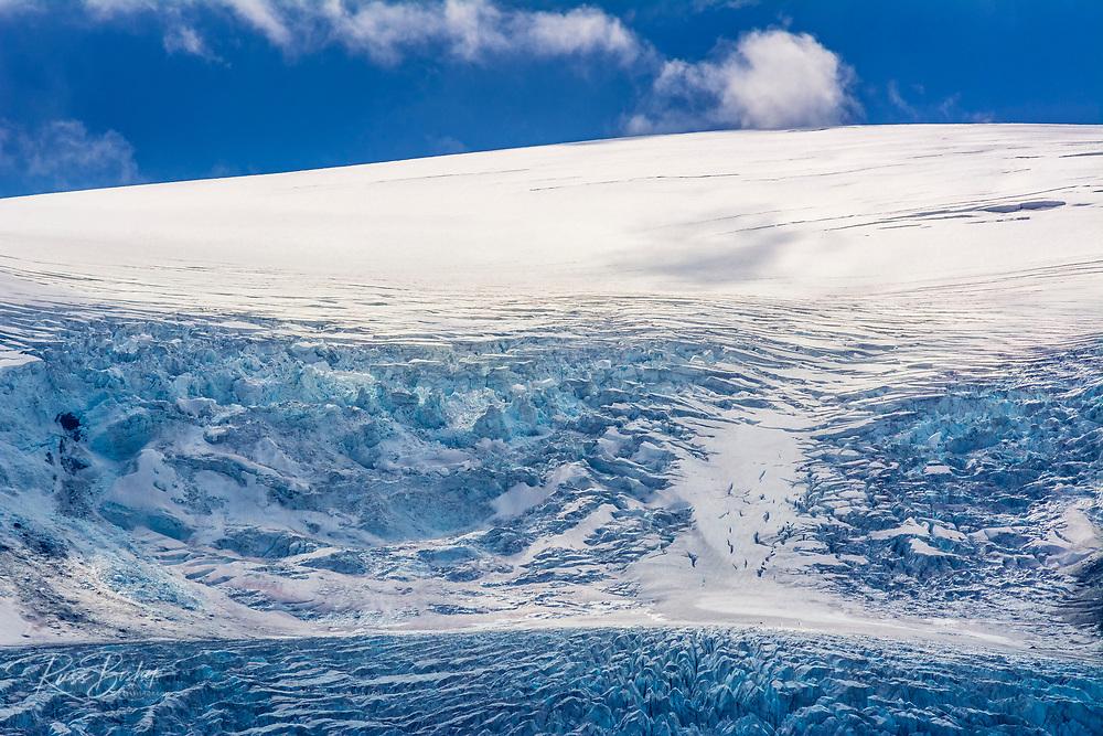 Crevasse detail on the Athabasca Glacier, Jasper National Park, Alberta, Canada