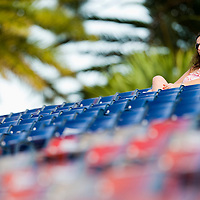 03 august 2008: a fan is seen during a Gulf Coast League MiLB game of the Los Angeles Dodgers, at Dodgertown near Vero Beach, Florida, USA.
