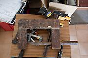 Wooden clamp. Pick Up Sticks Enterprises, Studio & Workshop of Architect & Artist Christopher Dukes, Kingsford, Sydney, New South Wales, Australia.