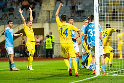 Mattias Kait of NK Domzale during Football match between NK Domzale and Malmo FF in Second Qualifying match of UEFA Europa League 2019/2020, on July 25th, 2019 in Sports park Domzale, Domzale, Slovenia. Photo by Grega Valancic / Sportida