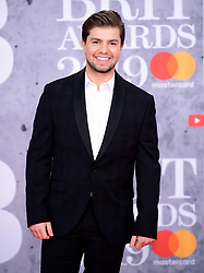 Sonny Jay attending the Brit Awards 2019 at the O2 Arena, London.