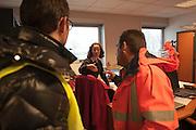 Surrounded by men. At Roissy, Nesrine, 34, (M) works as a technical inspector  for the DGCA (Directorate General of Civil Aviation) - she is the only female technical controller at the airport of Roissy-en-France. She can stop a Boeing taking off and make the 300 passengers leave the airplane. Nesrine Chkioua is the only woman controller at Roissy Airport and one of three women doing this job in France.<br /> <br /> <br /> À Roissy, Nesrine, 34 ans, (M) exerce le métier de contrôleur technique (CTE) pour la DGAC (Direction générale de l'aviation civile) - elle est la seule femme contrôleur technique à l'aéroport de Roissy-en-France.  Elle peut immobiliser un Boeing, retarder le décollage et même faire débarquer les 300 passagers d'un long-courrier. Nesrine Chkioua est la seule contrôleur femme à Roissy aéroport et est une des trois femmes à exercer ce métier en France.