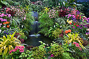 The Show Greenhouse at the Butchart Gardens, Victoria, Vancouver Island, British Columbia, Canada.
