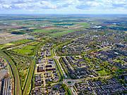 Nederland, Noord-Holland, Heerhugowaard, 07-05-2021; Schilderwijk, Westtangent.<br /> <br /> luchtfoto (toeslag op standard tarieven);<br /> aerial photo (additional fee required)<br /> copyright © 2021 foto/photo Siebe Swart