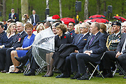 Herdenking op de Canadese Begraafplaats in Holten<br /> <br /> Op de foto: De Canadese premier Harper , Prinses Margriet en Pieter van Vollenhoven