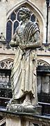 19th century statue of Roman Caesar erected at the Roman Baths in Bath, England