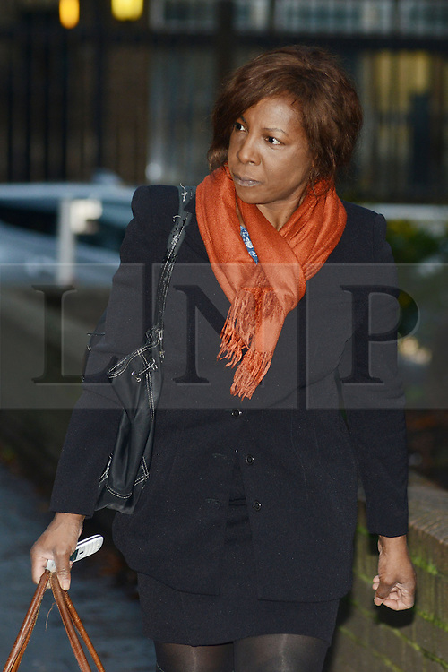 © Licensed to London News Pictures.16/01/2014. London, UK Barrister and part-time judge Constance Briscoe arrives for her trial at Southwark Crown Court. Constance Briscoe is accused of trying to pervert the course of justice in connection with the Chris Huhne case. Photo credit : Peter Kollanyi/LNP