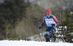 March 17, 2018 - Pyeongchang, South Korea - Sean Halsted of the US during the 7.5km Cross Country event Saturday, March 17, 2018 at the Alpensia Biathlon Center at the Pyeongchang Winter Paralympic Games. Photo by Mark Reis (Credit Image: © Mark Reis via ZUMA Wire)