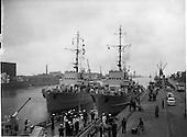 1962 - German Naval ships visit Dublin