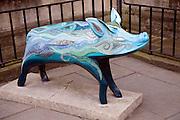 Pig sculpture commemorating King Bladud story, Bath