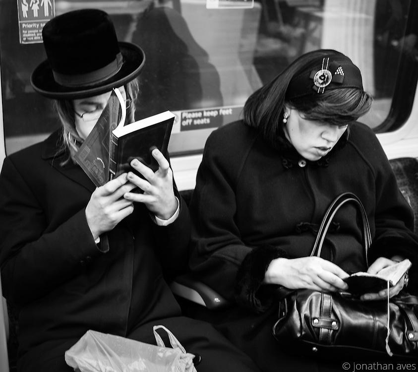 Jewish Commuters on the London Underground