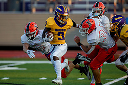 27 August 2021: Normal Community Ironmen visit the Bloomington High School Raiders at Bloomington High School in Bloomington IL<br /> <br /> 18 & 34  - 9