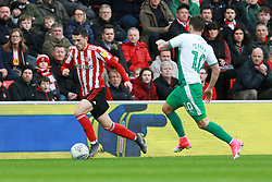 March 2, 2019 - Sunderland, England, United Kingdom - Sunderland's Lewis Morgan contests for the ball with Plymouth Argyle's Graham Carey during the Sky Bet League 1 match between Sunderland and Plymouth Argyle at the Stadium Of Light, Sunderland on Saturday 2nd March 2019. (Credit Image: © Mi News/NurPhoto via ZUMA Press)