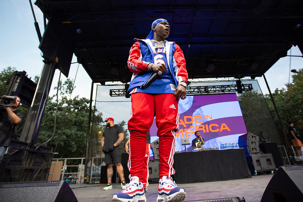 DaBaby performing at the Made In America Festival in Philadelphia, PA on September 1, 2019.