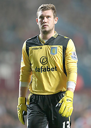 Aston Villa's Jed Steer  - Photo mandatory by-line: Nigel Pitts-Drake/JMP - Tel: Mobile: 07966 386802 24/09/2013 - SPORT - FOOTBALL -  Villa Park - Birmingham - Aston Villa v Tottenham Hotspur - Round 3 - Capital One Cup
