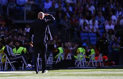 March 16, 2019 - Madrid, Madrid, Spain - Real Madrid CF's Zinedine Zidane seen during the Spanish La Liga match round 28 between Real Madrid and RC Celta Vigo at the Santiago Bernabeu Stadium in Madrid. (Credit Image: © Manu Reino/SOPA Images via ZUMA Wire)