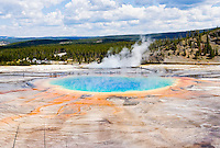 Grand Prismatic Spring in Yellowstone National Park, Wyoming, USA.