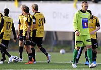Fotball<br /> 14.08.2014<br /> Førstedivisjon<br /> Bærum v Tromsø 2:1<br /> Foto: Morten Olsen, Digitalsport<br /> <br /> Benny Lekstrøm - keeper TIL<br /> Bærum jubler for scoring
