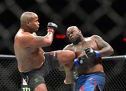 "Daniel ""DC"" Cormier (red gloves) vs. Derrick ""The Black Beast"" Lewis (blue gloves) during UFC 230 at Madison Square Garden."