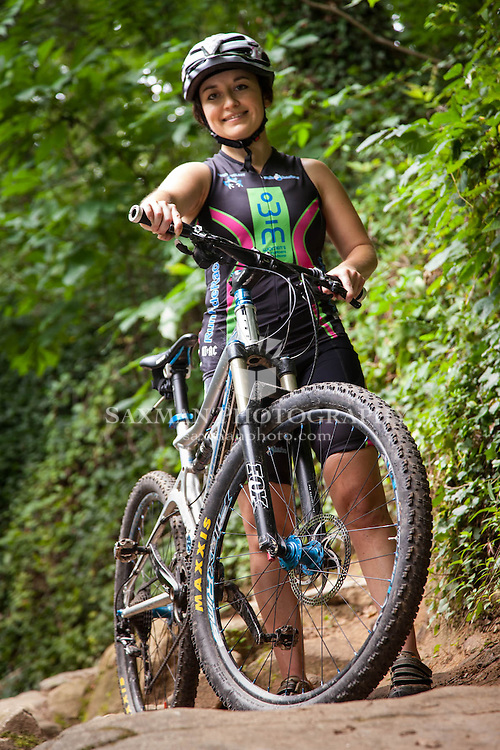 Veronica Salizar mountain biking on Richmond's Buttermilk Trail