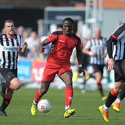 TELFORD COPYRIGHT MIKE SHERIDAN 6/4/2019 - Dan Udoh of AFC Telford during the Vanarama Conference North fixture between Chorley FC and AFC Telford United at Victory Park