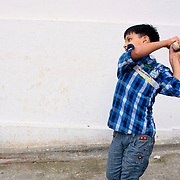 Kids playing cricket at Udaipur old town