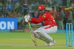 May 8, 2018 - Jaipur, Rajasthan, India - Kings XI Punjab team batsman Chris Gayle plays a shot during the IPL T20 match against Rajasthan Royals at Sawai Mansingh Stadium in Jaipur,Rajasthan,India on 8th May,2018.(Photo By Vishal Bhatnagar/NurPhoto) (Credit Image: © Vishal Bhatnagar/NurPhoto via ZUMA Press)