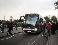 Football - 2017 / 2018 Europa League - Group H: Arsenal vs. FC Koln<br /> <br /> The Koln team bus arrives at the stadium, as the game is delayed by one hour at The Emirates.<br /> <br /> COLORSPORT/ANDREW COWIE