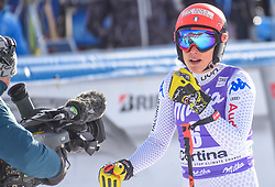 19.01.2019, Olympia delle Tofane, Cortina d Ampezzo, ITA, FIS Weltcup Ski Alpin, Abfahrt, Damen, im Bild Federica Brignone (ITA) // Federica Brignone of Italy reacts after her run in the ladie's Downhill of FIS ski alpine world cup at the Olympia delle Tofane in Cortina d Ampezzo, Italy on 2019/01/19. EXPA Pictures © 2019, PhotoCredit: EXPA/ Erich Spiess