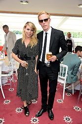 LAURENCE FOX and BILLIE PIPER at the Audi International Polo at Guards Polo Windsor Great Park, Egham, Surrey on 28th July 2013.