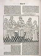 A dissection in progress. From 'Le livre de la propriete des choses' (On the Properites of Things) written by the English Franciscan monk Bartholomew Glanville, called Bartolomaeus Anglicus,  c1230-1240 and translated by Jean Corbechon in 1372. Woodcut fr