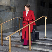 American women's rights attorney Gloria Allred during the rape trial of Harvey Weinstein outside of Manhattan Criminal Court in Manhattan, NYC on Wednesday, Jan. 8, 2020.