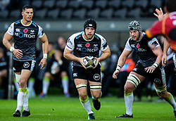 Morgan Morris of Ospreys<br /> <br /> Photographer Simon King/Replay Images<br /> <br /> Guinness PRO14 Round 6 - Ospreys v Southern Kings - Saturday 9th November 2019 - Liberty Stadium - Swansea<br /> <br /> World Copyright © Replay Images . All rights reserved. info@replayimages.co.uk - http://replayimages.co.uk