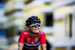 September 23, 2017 - Bergen, NORWAY - 170923 Emilie Moberg of Norway crosses the finish line during the Women Elite Road Race on September 23, 2017 in Bergen..Photo: Jon Olav Nesvold / BILDBYRN / kod JE / 160028 (Credit Image: © Jon Olav Nesvold/Bildbyran via ZUMA Wire)