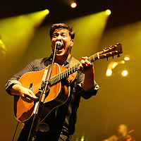 ST PAUL, MN - SEPTEMBER 04:  Marcus Mumford of the band Mumford & Sons performs on September 4, 2013 at The Xcel Energy Center in St. Paul, Minnesota. (Photo by Adam Bettcher/Getty Images) *** LOCAL CAPTION ***  Marcus Mumford