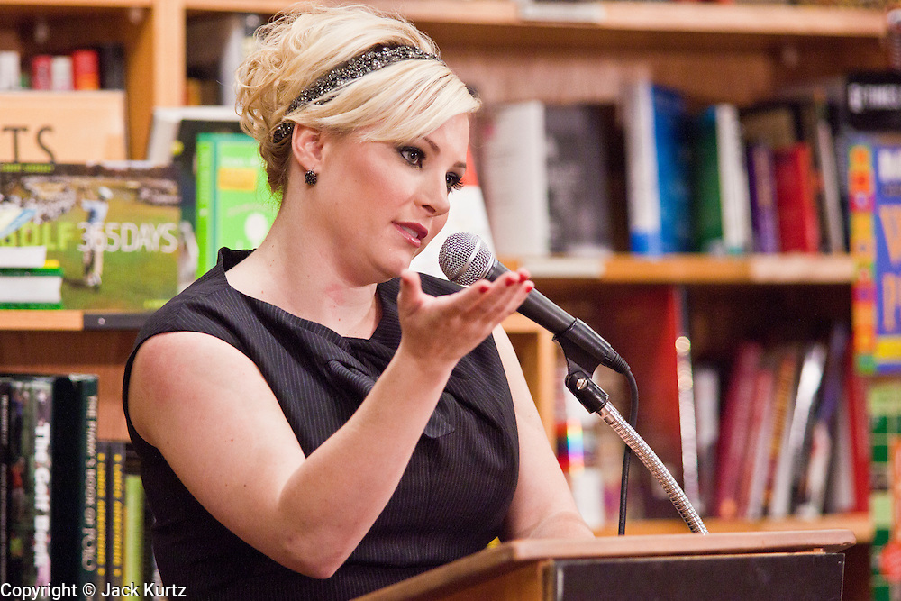 """Sept. 16 - TEMPE, AZ: MEGHAN MCCAIN talks about her book, """"Dirty Sexy Politics"""" during a book signing at Changing Hands Bookstore in Tempe, AZ, Thursday, Sept. 16. McCain's book is a recounting of her life on the campaign trail during the 2008 election, when her father, John McCain, was the Republican candidate for President of the United States.  Photo by Jack Kurtz"""
