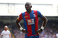 Yannick Bolasie of Crystal Palace looks on. Barclays Premier League match, Crystal Palace v Stoke City at Selhurst Park in London on Saturday 7th May 2016. pic by John Patrick Fletcher, Andrew Orchard sports photography.