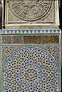 MOROCCO, FEZ Attarine Medersa (Koranic school) built in 1325, best example of Merinid Art, Koranic inscriptions detail