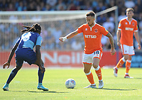 Blackpool's John O'Sullivan under pressure from Wycombe Wanderers' Marcus Bean<br /> <br /> Photographer Kevin Barnes/CameraSport<br /> <br /> The EFL Sky Bet League One - Wycombe Wanderers v Blackpool - Saturday 4th August 2018 - Adams Park - Wycombe<br /> <br /> World Copyright © 2018 CameraSport. All rights reserved. 43 Linden Ave. Countesthorpe. Leicester. England. LE8 5PG - Tel: +44 (0) 116 277 4147 - admin@camerasport.com - www.camerasport.com