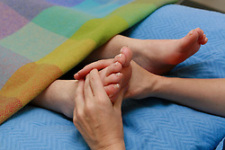 Adelaide Hospital Society<br /> <br /> Picture of Patient hands and feets with a  nurse.<br /> <br /> Roisin Whiting