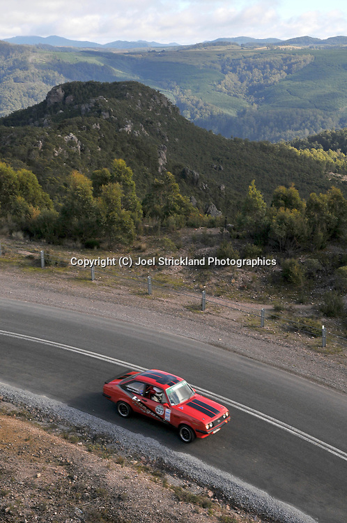 Eric Grimshaw & Martin Brewster .1980 Ford Escort RS2000.Day 4.Targa Tasmania 2009.2nd of May 2009.(C) Joel Strickland Photographics.