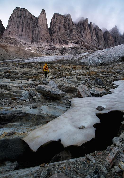 Fox Jaw Cirque & Shark's Tooth in Schweizerland Mountains, <br /> East Greenland