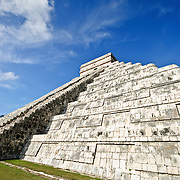 El Castillo (also known as Temple of Kuklcan) at the ancient Mayan ruins at Chichen Itza, Yucatan, Mexico 081216092726_1919x.tif