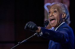 Rev. Al Sharpton speaks during a memorial service for George Floyd at North Central University in Minneapolis on Wenesday, June 4, 2020. Photo by Carlos Gonzalez/Minneapolis Star Tribune/TNS/ABACAPRESS.COM