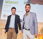 Sam Duby & Harrison Leaf of SteamaCo, International Gold winners at the 2015 Ashden Awards ceremony held at the Royal Geographical Society, London. UK.