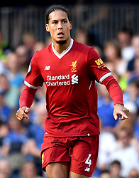 Liverpool's Virgil van Dijk during the Premier League match at Stamford Bridge, London.