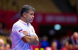 during the EHF Euro 2020 Main Round group I match between Montenegro and Russia  in Jyske Bank Boxen, Herning, Denmark on December 10, 2020. Photo Credit: Allan Jensen/EVENTMEDIA.