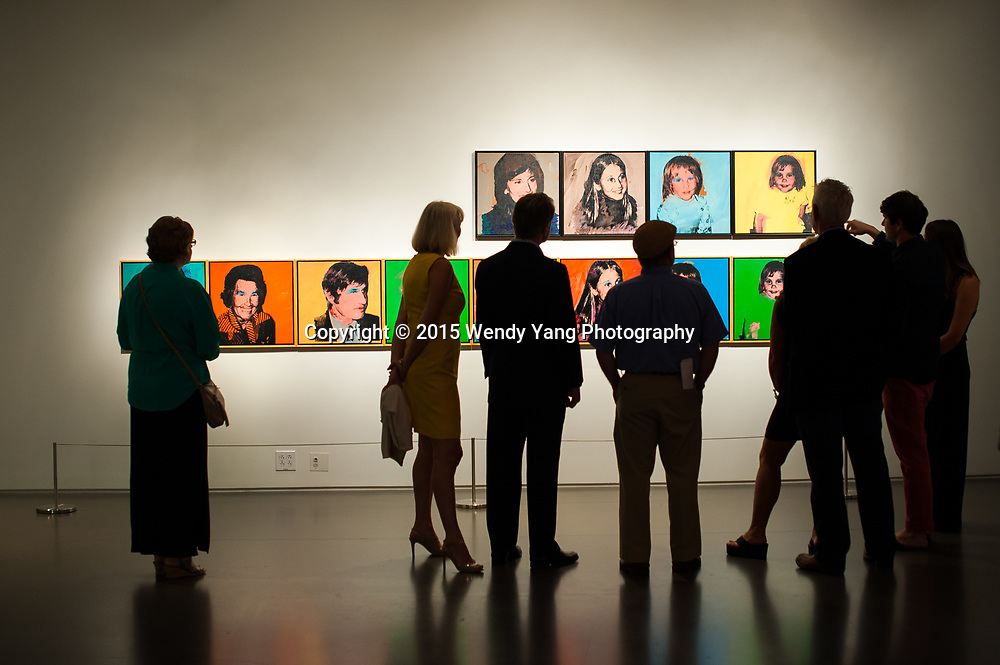 """Bechtler members attend a members-only reception for the exhibitions  """"Sam Francis: Rapid Fluid Indivisible Vision"""" and """"Portraying the Patron: Andy Warhol and the Bechtlers"""" Friday, Sept. 18, 2015. Photo by Wendy Yang Photography"""